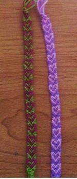 Heart design friendship bracelet instructions - Loved making these, but don't know this one love it! must try! #ecrafty
