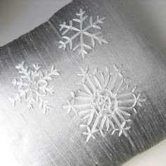 Ribbon embroidery -- beautiful snow flake