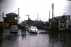 Abbey Wood station flood 1968