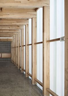 for the two exposed garage walls - in the garden Timber Architecture, Architecture Details, Melbourne Apartment, Timber Structure, Micro House, Garage Walls, Concrete Wood, Architectural Section, House In The Woods