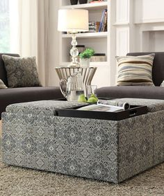 Take a look at this Paisley Presley Storage Cocktail Ottoman on zulily today!