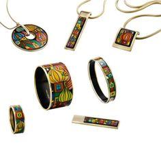 Hundertwasser inspired jewelry by Frey Wille       www.frey-wille.com
