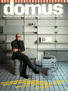 Dieter Rams on the cover of Domus 649, April 1984. Read more: Alessandro Mendini/ Interview with Dieter Rams via Domus