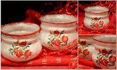 pomegranate candle #decoupage #xmas #pomegranate #decor #create Handmade Christmas, Pomegranate, Decoupage, Candle Holders, Xmas, Candles, Create, Decor, Granada