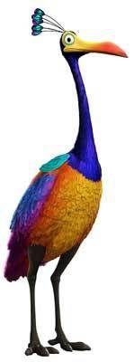 Walt Disney Pixar UP Movie KEVIN The Bird Window Cling Decal Sticker -NEW