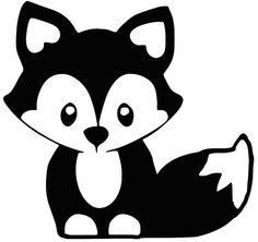 Fox silhouette for Nursery Fuchs Silhouette, Silhouette Clip Art, Silhouette Design, Animal Silhouette, Silhouette Portrait, Baby Flash Cards, Baby Cards, Stencils For Kids, Fuchs Baby