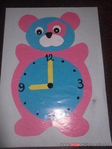 bear clock craft idea (6) Clock Craft, Kindergarten, Preschool Teachers, Worksheets, Free Printables, Coloring Pages, Crafts For Kids, Bear, Activities
