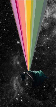 Cosmic collage by Lori Menna