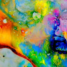 candy lava dreamby Mel Gross acrylic on duralar ...   SFMOMA
