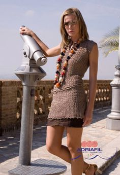 Zanzibar Dress in Adriafil Snappy Ball - Downloadable PDF
