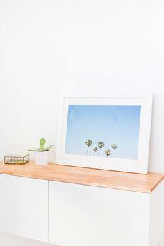 DIY Ikea hack floating credenza | sugarandcloth.com