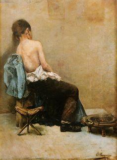 Ovidio Murguía - Estudo de figura infantil; 1896.