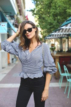 b&w gingham looks - Lady Addict