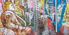Faune du métro, 120 cm x 80 cm, édition limitée de Rene Gonzales