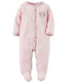 Carter's 1-Pc. Animal-Pocket Thermal Footed Coverall, Baby Girls (0-24 months)