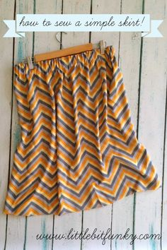 How to sew a simple skirt! {a project for the weekend}