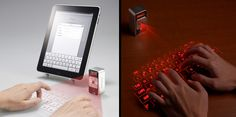 Celluon Magic Cube is an innovative mobile input device that projects virtual full-size keyboard onto any flat surface.