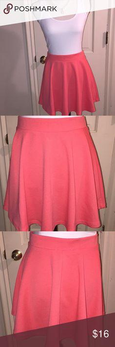 Coral Mini Skater Skirt (New) Soft, elegant and beautiful Mini Skater Skirt.  Swing skirt with pleats.  Very classy. Skirts Mini