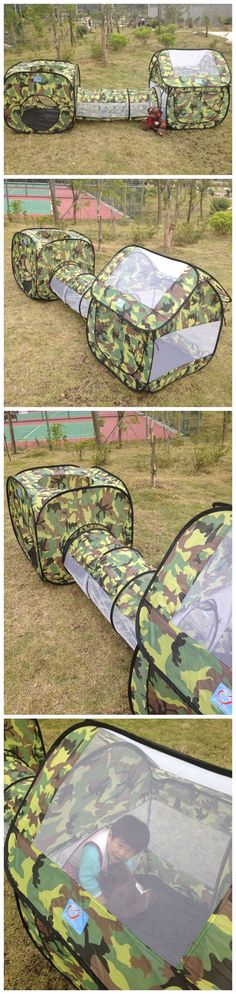 Kids Sports Outdoor Fun Lawn Camping Tent Playhouse Tunnel Crawl Sale - Banggood.com