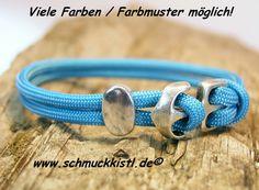 Armband in türkis, maßgefertigtes Geschenk für den Freund oder die Freundin von www.Schmuckkistl.de auf DaWanda.com