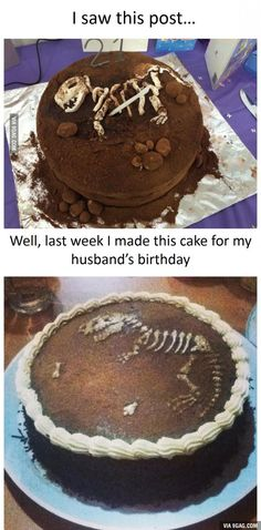 Great idea (pinning from 9gag since I can't find the top cake anywhere)
