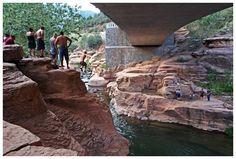 Slide Rock, AZ - I've jumped from both sides.