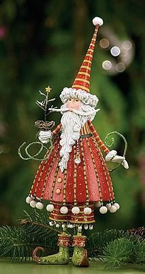 Santa -Krinkles Christmas ~~ Figures by Patience Brewster at Fiddlesticks Noel Christmas, Father Christmas, All Things Christmas, Winter Christmas, Vintage Christmas, Christmas Crafts, Christmas Decorations, Christmas Ornaments, Christmas Morning