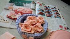 Pólófonalazz velünk! - Készítsünk rózsaboxot! - rózsa hajtogatása fettuccia fonalból - YouTube