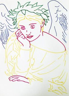 "Saatchi Art Artist Zoran Poposki; Drawing, ""Muse (after Poynter)"" #art"