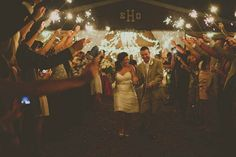 wedding exit sparklers, image by Stacy Paul Photography