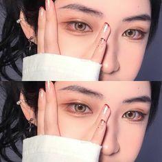Bts Makeup, Ulzzang Makeup, Makeup Goals, Makeup Art, Asian Makeup Looks, Cool Makeup Looks, Korean Eye Makeup, Rave Makeup, Natural Eye Makeup