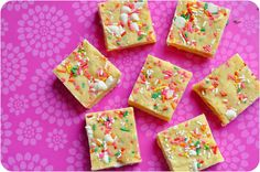Funfetti Cake Batter Fudge Recipe by Lemon Sugar