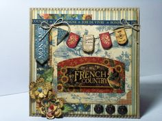 Inspired Photo of Scrapbook Cards Birthday Scrapbook Cards Birthday French Country Birthday Card Graphic 45, Vintage Graphic, Birthday Scrapbook, Birthday Cards, French Country Collections, Country Birthday, Decoupage, Shabby Chic Cards, Paper Cards