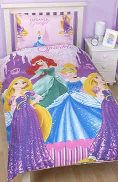 Any little Disney Princess will absolutely love sleeping in this bold and bright quilt cover set every night! Printed on an easy care, durable fabric that's great for parents, this is not your average quilt set - it's fun, colourful and features Ariel, Belle and friends! This versatile and durable quilt cover set will be enjoyed by the kids for years to come! Features:  Printed Reversible Quilt Cover Set Design: ...