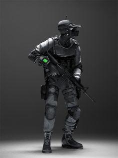 Futuristic Warrior Art   ... future soldier, military, future warrior, futuristic soldier,