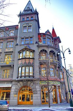 nice Pařížská avenue, Prague, Czechia...