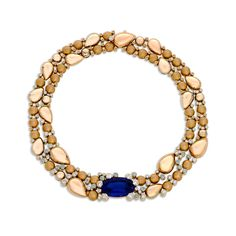 Here is an example of a museum quality Tanzanite from the 80's Le Vian recently released into the market with the introduction of the exclusive Panther Gold collection. You don't see this quality any more. This one is a one of a kind necklace that cannot be reproduced, both in terms of the gem and in terms of the workmanship.