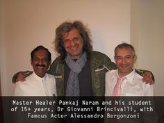 Dr. Pankaj Naram and his student of 15+ years, Dr Giovanni Brincivalli, with Famous Actor Alessandro Bergonzoni.jpg