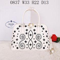Replica Prada Handbags, Size W33H22D13 CM, Leather , Color White Bags, Bags for Women, 1:1 Quality