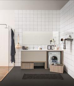 Mobile lavanderia componibile con lavatoio ACQUA E SAPONE BATH | Mobile lavanderia con lavatoio - Birex