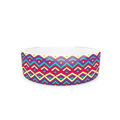 Kess InHouse Pom Graphic Design Horizons III Pet Bowl *** You can get additional details at the image link. Cat Training Pads, Cat Shedding, Cat Fleas, Cat Memorial, Pet Bowls, Cat Grooming, Dog Care, Cat Toys, Graphic Design