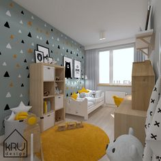 Cool Kids Bedrooms, Kids Bedroom Designs, Baby Room Design, Boys Bedroom Decor, Baby Room Decor, Boy Toddler Bedroom, Toddler Rooms, Baby Boy Rooms, Kids Room Paint