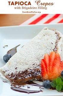 Gluten-free tapioca crepes with a decadent chocolate truffle filling...