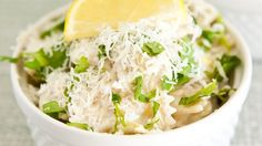 Blogger Angie McGowan of  Eclectic Recipes shares a fun and easy lemon pasta recipe.