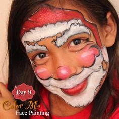 25 Days of Christmas Face Painting. A jolly Santa! - Color Me Face Painting