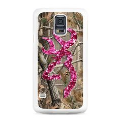 Camo Browning Pink Glitter Samsung Galaxy S5 Case