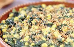 Serve this vegetable dish alongside your favorite family meal. Spinach Corn Casserole | EatFresh #eatfreshCA