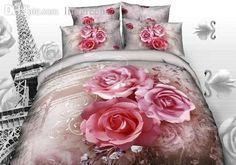 Wholesale Plant Reactive Printed 3d Bed Set Bedding Set Linen Cotton Flower Pink Yellow Rose Queen/King Size/Bedclothes/Duvet Cover Comforter Sets Queen Teen Bedding From Douglass, $121.03| Dhgate.Com