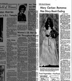 Mary Carlson Romance Has Story Book Ending Newspaper