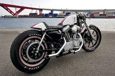 Harley XL 1200S custom by Nice Motorcycle.  Total cafe racer look.